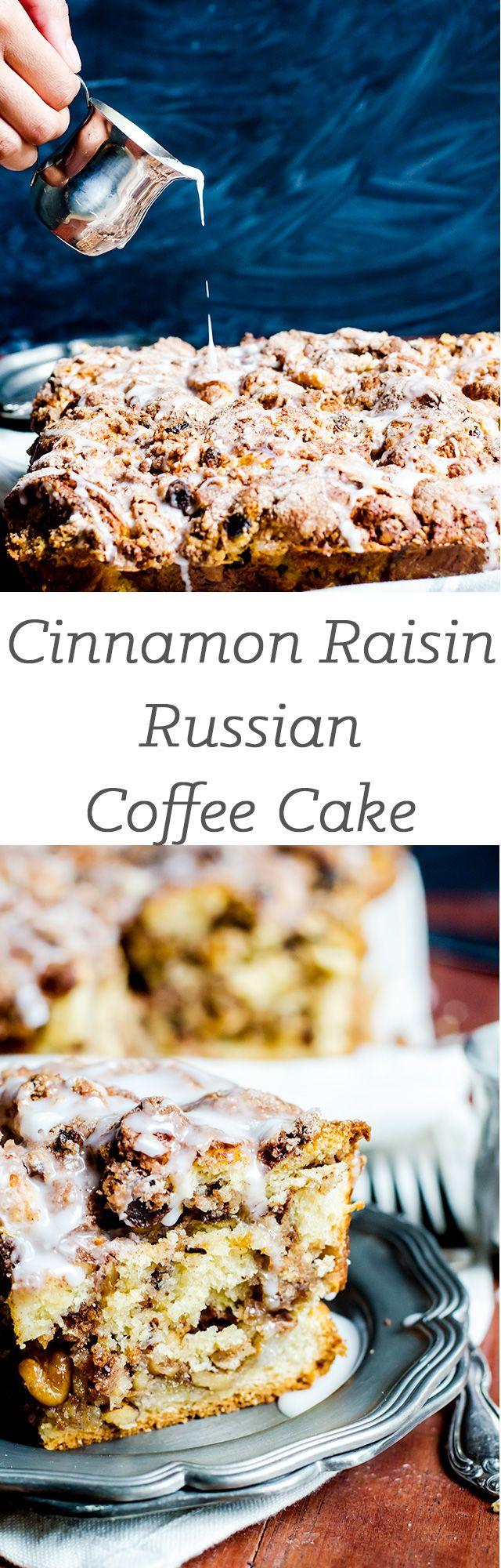 Cinnamon Raisin Russian Coffee Cake + Jewish Baker's Pastry Secret Review | cookienameddesire.com