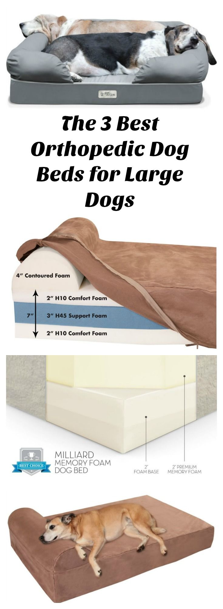 The 3 Best Orthopedic Dog Beds for Large Dogs - Tap the pin for the most adorable pawtastic fur baby apparel! You'll love the dog clothes and cat clothes! <3
