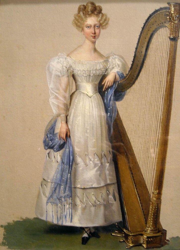 1828 Princess Marie de Valois by Alexandre-Jean-Dubois Drahonet (Museo Nazionale di Capodimonte, Napoli, Campania, Italy) From centuriespast.tumblr.com/post/97153820426/dubois-drahonet-alexandre-jean-portrait-of-the