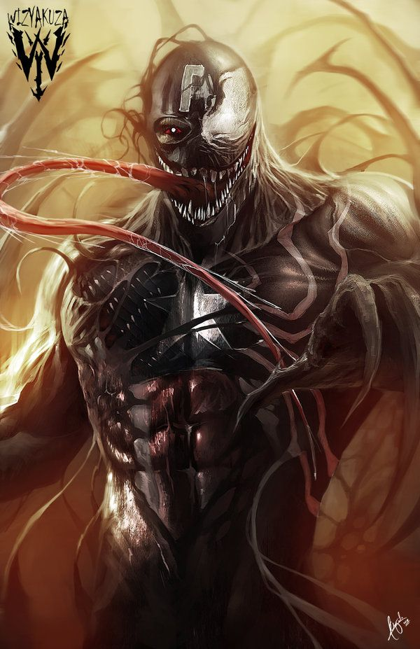 extraordinarycomics:  Venom by Wizyakuza.   #Venom #SpiderMan #Marvel…