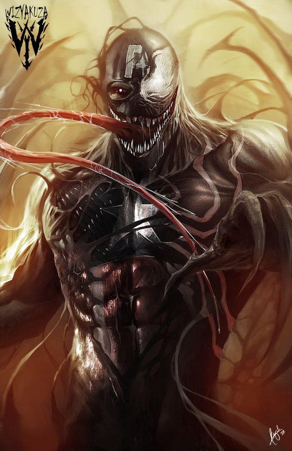 extraordinarycomics:  Venom byWizyakuza.   #Venom #SpiderMan #Marvel…