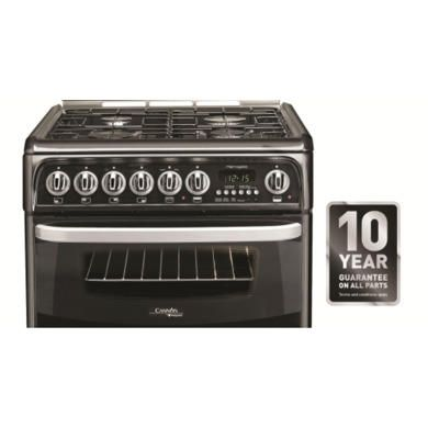 Hotpoint CH60DHKFS Harrogate Double Oven 60cm Dual Fuel Cooker - Black
