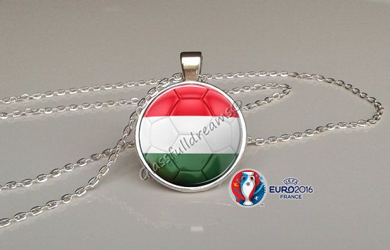 France 2016 Euro Cup Hungary Group F  Pendant by Glassfulldreams