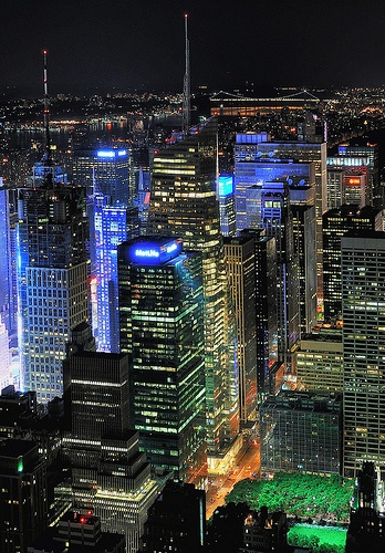 NYC by night- Belieeve it or not.  I have never been there.