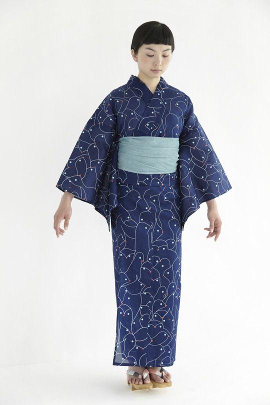 minä perhonen | seafowl Yukata