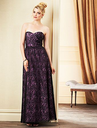 Alfred angelo lace bridesmaid dress