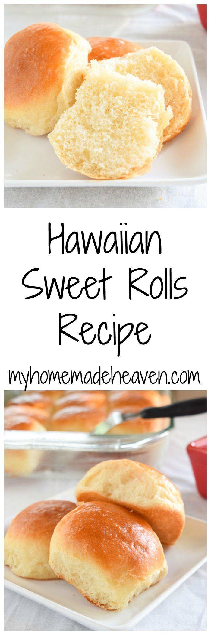 Hawaiian Sweet Bread/Rolls - My Homemade Heaven