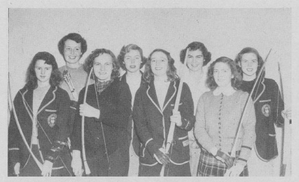 1949 archery team - Ontario Agricultural College, Guelph.