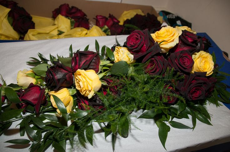 My beautiful black and yellow rose wedding bouquet. Yellow for remembrance. Black bacorra my favourite