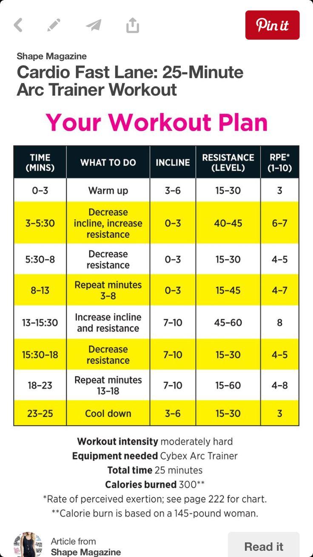 Arc Trainer Plan                                                                                                                                                      More
