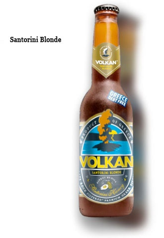 Volkan is a premium Greek beer, born in Santorini, with the finest and rarest ingredients of the Cycladic islands: rare Santorini honey, ancient Citrus Medica from Naxos and Lava Rock Filtered water, to simulate the taste of the water in Santorini thousands of years ago. Volkan is now enjoyed in the whole world, but as the No1 certified Greece Debt Free product, 50% of the value of its profits go back to help Greece reduce its national debt to a sustainable level