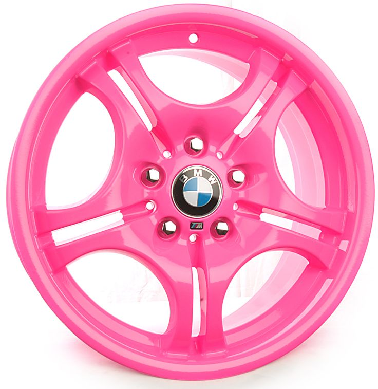 BMW Custom Pink Powder Coat Rims ☆ Girly Cars for Female Drivers! #itspowdercoated www.powdercoating.org