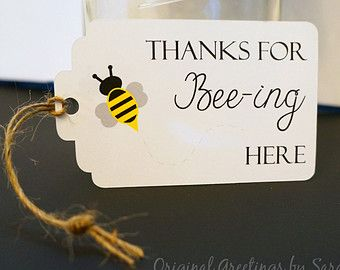 Mommy to Bee Favor Tag - Bee Baby Shower - set of 10