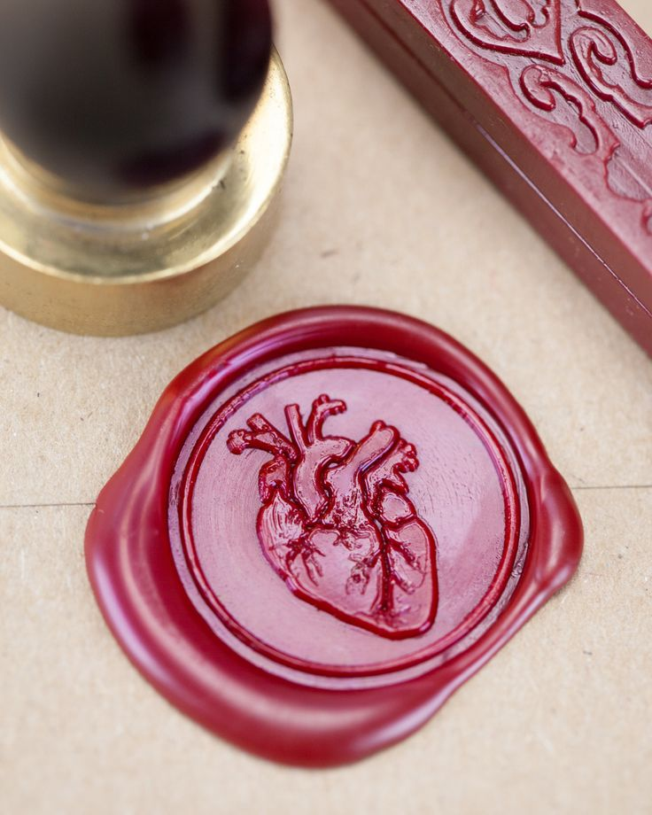 Come on. Have a heart. Give your letters and wedding invitations a little love with a science seal that features a vintage medical illustration of one of the most popular organs. Cockles not included.