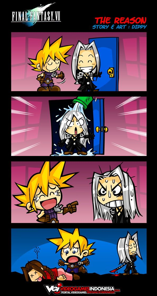 The reason why Sephiroth kills Aerith - Final Fantasy VII funny comic