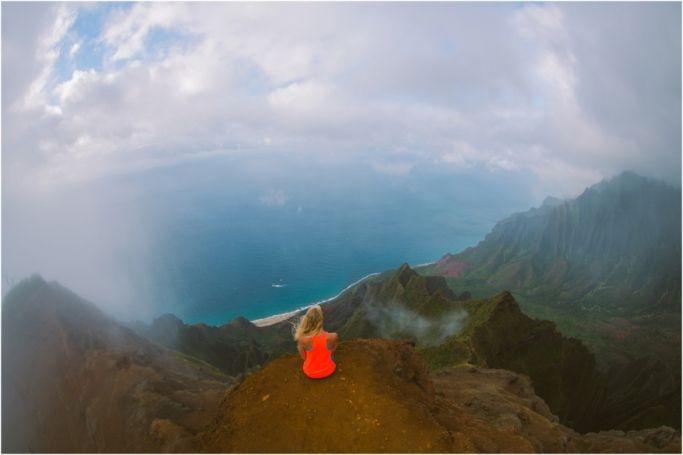 Hiking on Kauai! One of the most beautiful places in the world. Na Pali Coast, Hawaii. Kauai Photographer Meg Courtney