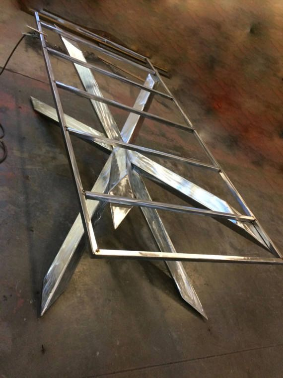 Exceptional Modern Table Base Industrial Dining Table By InvictusSteelworks