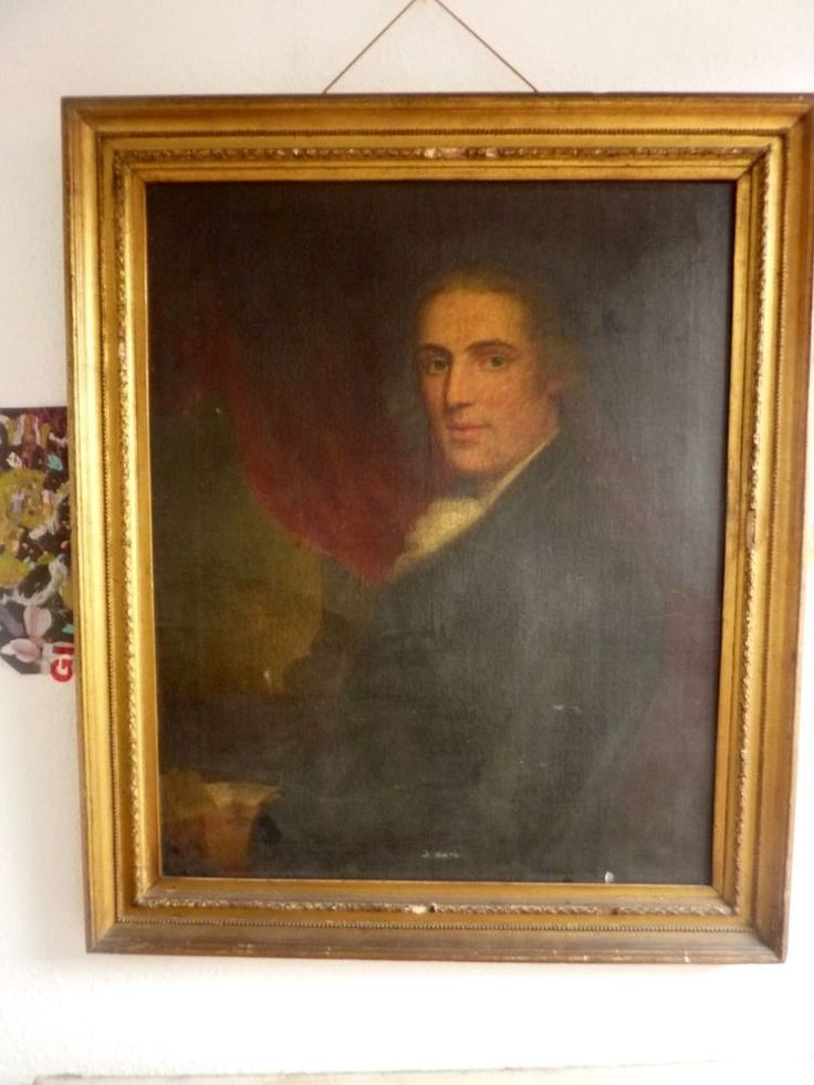 18th Century Portrait of William Hill of wolverhampton Oil on Canvas.