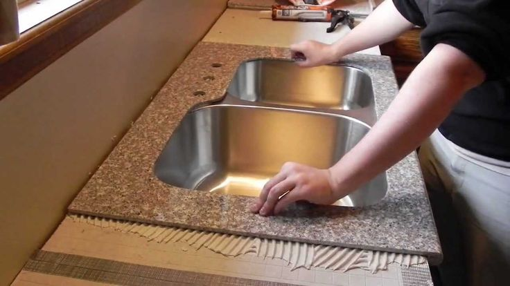 John shows us how to install the Lazy Granite (lazygranite.com) kitchen countertop system. This is all natural granite, mini slab solution. It's a lot nicer ...