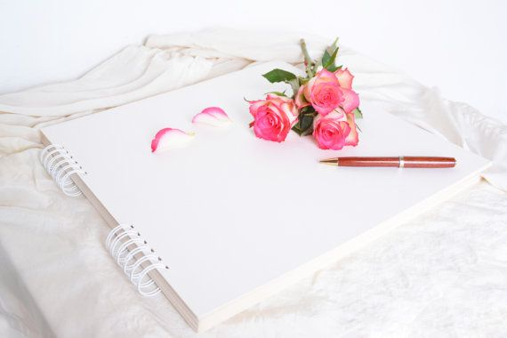 large blank album, big unfinished spiral bound planner guestbook journal photo album anniversary scrapbooking gift, rustic modern minimalist