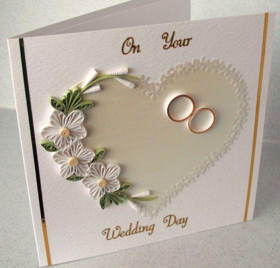 Scheda Congratulazioni matrimonio quilled di PaperDaisyCards