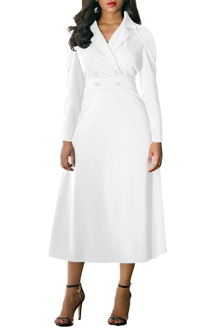 Ready to ship: Chicloth White Vi.... http://chicloth.com/products/chicloth-white-vintage-button-collared-fit-and-flare-dress?utm_campaign=social_autopilot&utm_source=pin&utm_medium=pin