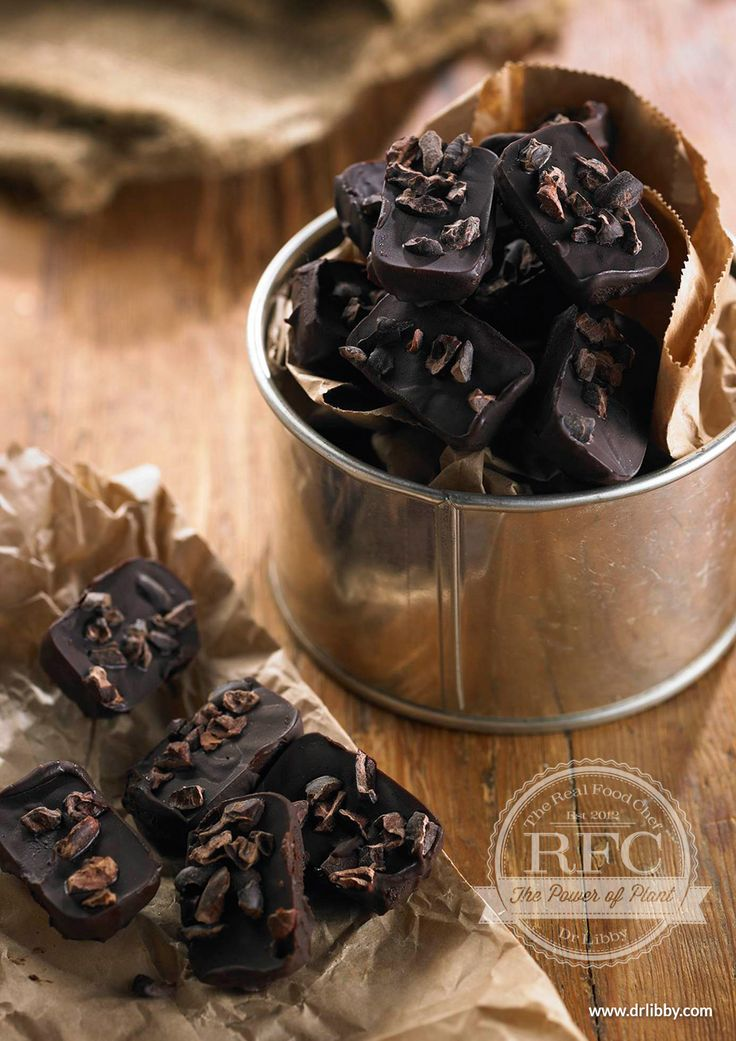 Homemade Chocolates | There's no compromising the taste when making these homemade chocolates. With no dairy, refined sugar or artificial additives, these amazing chocolates are rich in antioxidants and magnesium. Just one bite will satisfy even the most ardent chocoholic! | www.drlibby.com