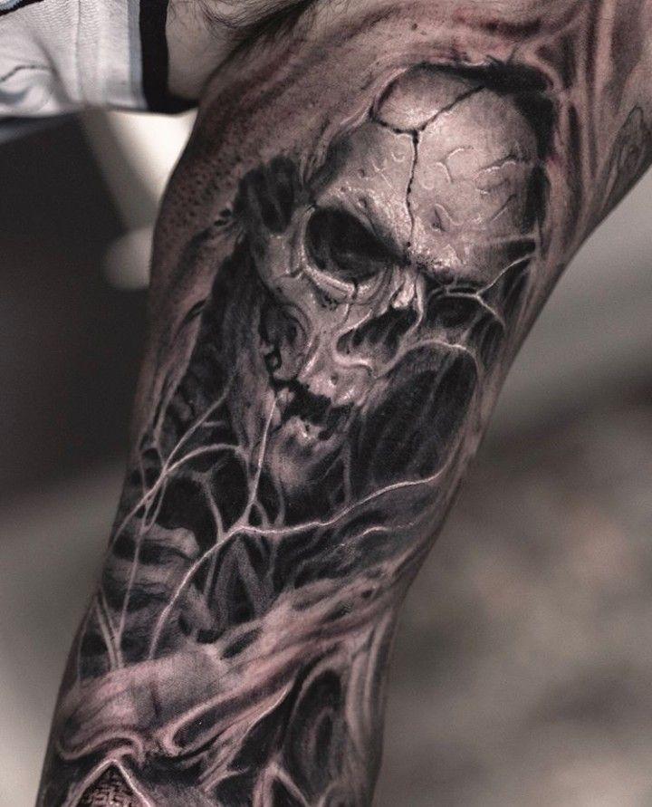 Evil Skull Tattoos : skull, tattoos, Darwin, Enriquez, Skull, Sleeve, Tattoos,, Sleeve,, Tattoos
