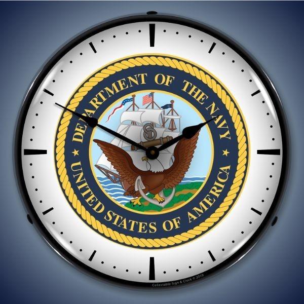 $119.95 Retro US Navy Lighted Wall Clock