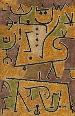 Le Gilet d'or, par Paul Klee