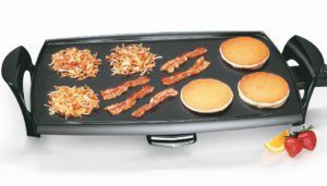 Presto griddles are famous among the griddle users and there is a reason to that. Presto has been manufacturing top-level griddles with various designs for serious home chefs and they are budget-friendly. This Presto 07039 22 Inch Electric Griddle doesn't tarnish that reputation in any way. It is relatively inexpensive griddle, ideal for those with large families.