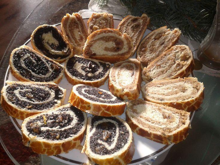 Makový a orechový závin