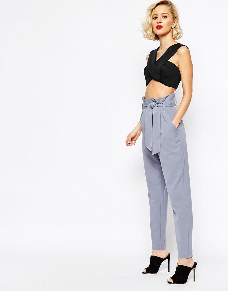 Lavish Alice Paper Bag Peg Trouser with Belt