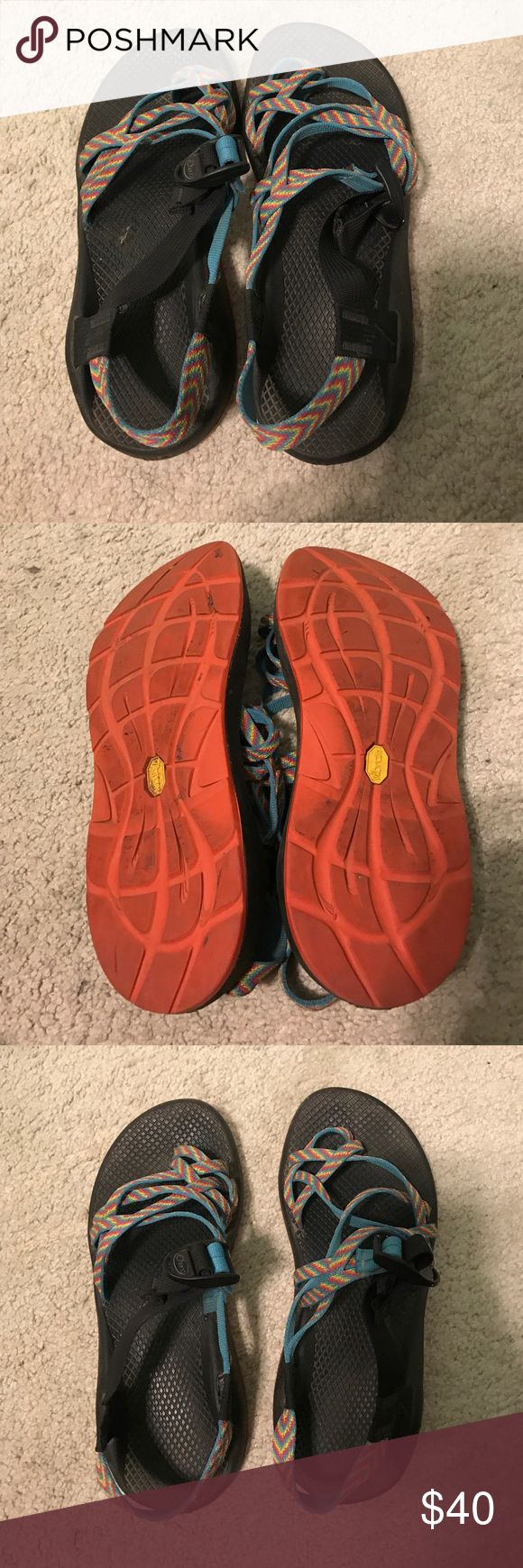 RAINBOW CHACOS Rainbow Chacos for sale..trying to clean out my closet. They are a little dirty but in great condition! Chaco Shoes