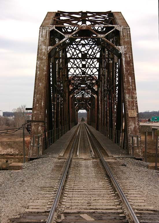Railroad Bridge over the Red River going from Oklahoma to Denison, Texas