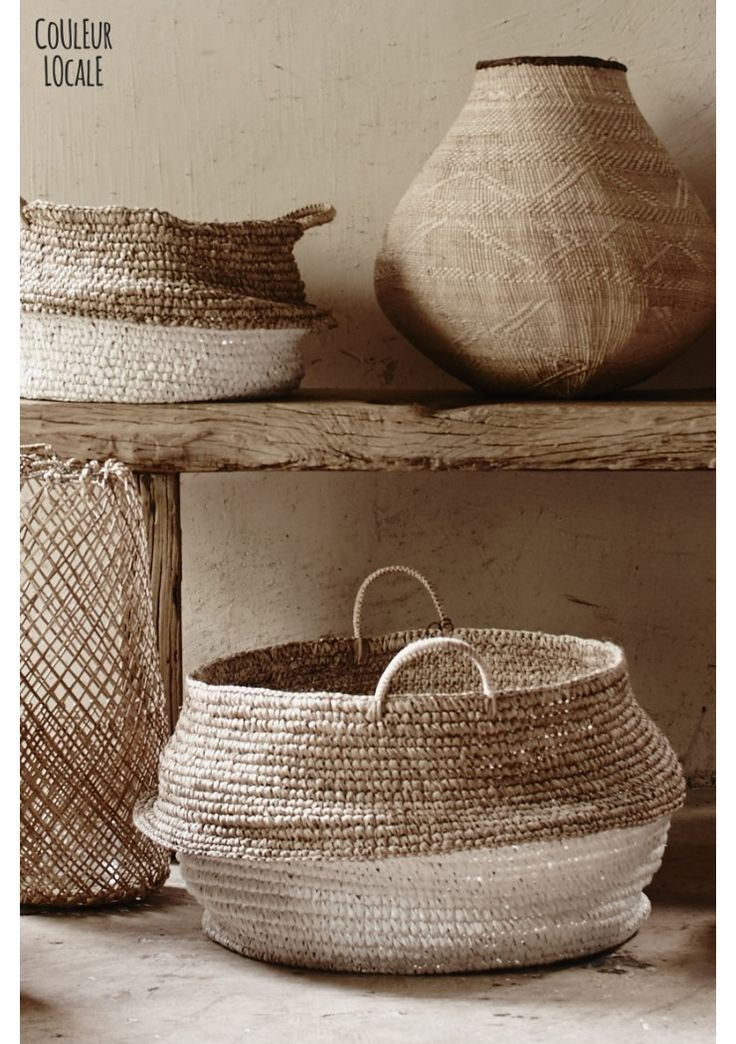 Love Warriors Raffia Baskets