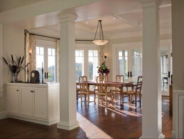 colonnes intérieur pour salon en blanc