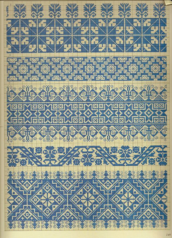 Traditional Folk cross stitch patterns,Pepin van Roojen