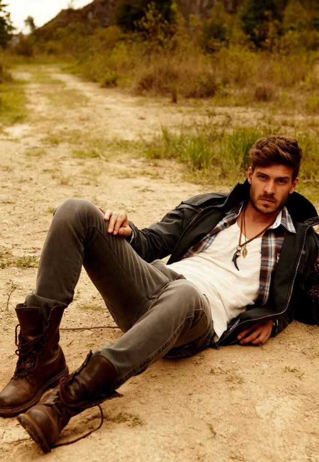 Rugged Men Mens Fashion I Love A Man In Boots