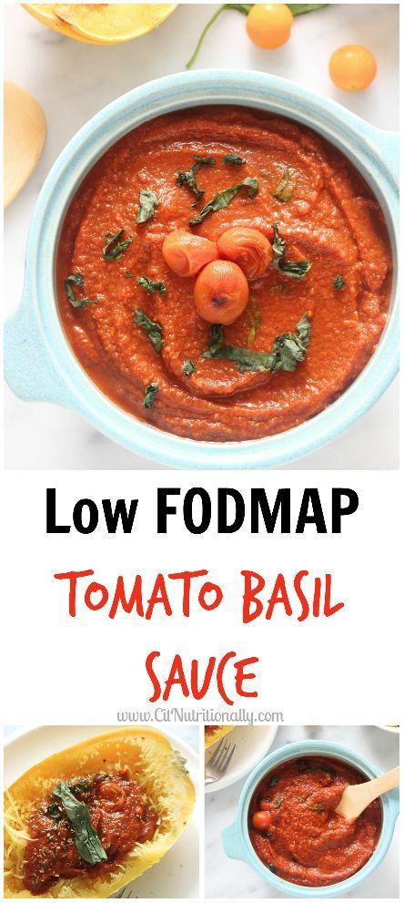 Low FODMAP Tomato Basil Sauce