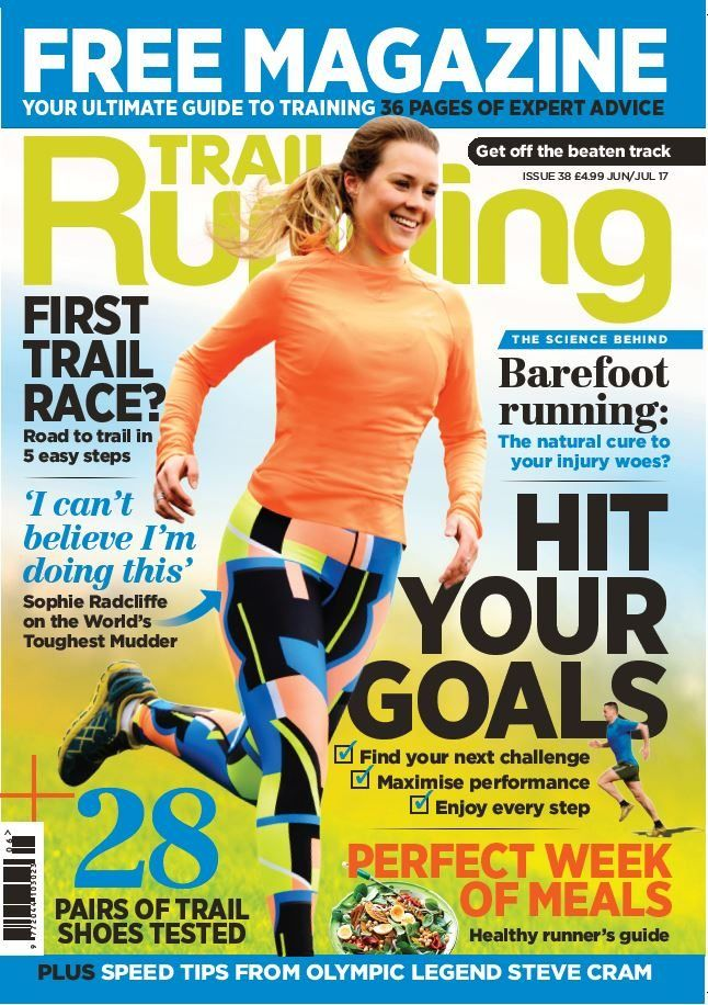 Trail Running's June/July 17 issue is packed full of amazing content designed to inspire you off roads and out into the great outdoors. We've mapped out how to run your first trail race, created training programmes for your next adventure, and listed a whole week of amazing recipes to fuel your training. That's on top of our biggest shoe review of the year, an analysis of barefoot running, and an interview with Olympic legend Steve Cram. Sophie Radcliffe on the World's toughest Mudder. Plus…