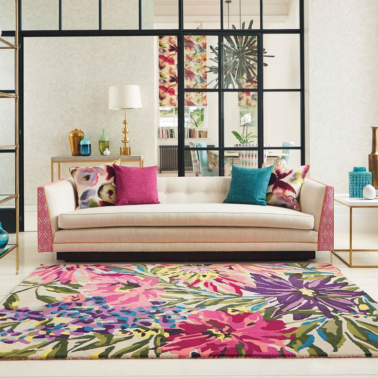 25 Modern Decor Ideas With Floral Fabric Prints And Textiles: Best 25+ Floral Rug Ideas On Pinterest