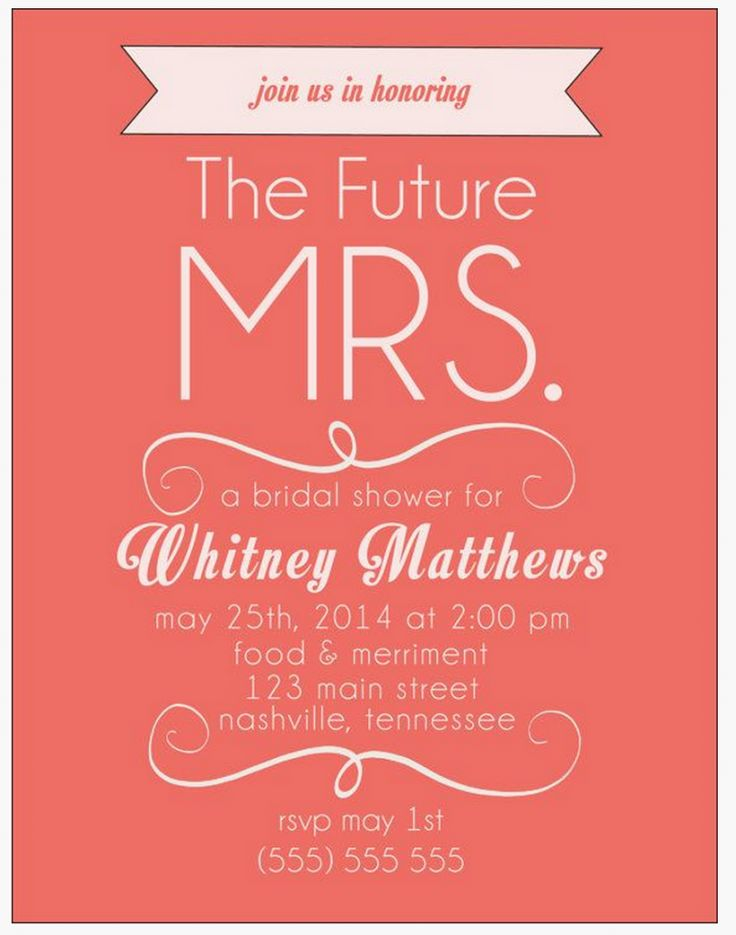 Free Bridal Shower Invitations  Free Bridal Shower Invitation Templates For Word
