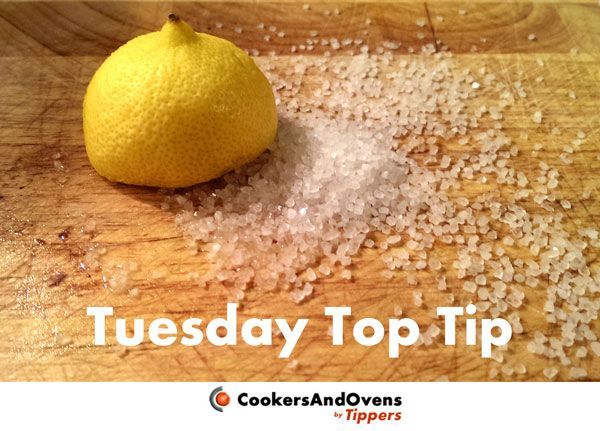 This week's Tuesday Top Tip shows you how to clean a wooden chopping board cheaply and without the use of harsh chemicals. All you need is lemon and salt!