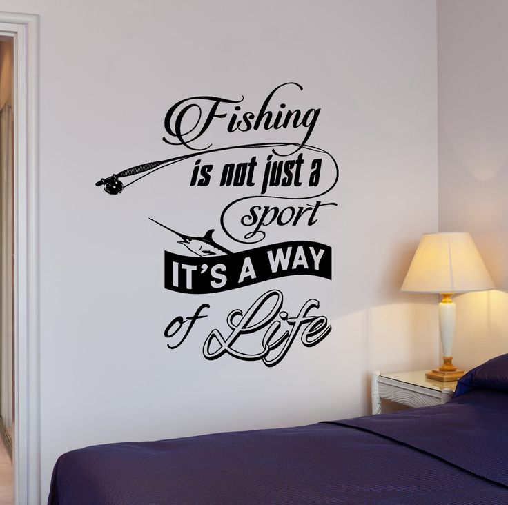 Wall Vinyl Decal Fishing Quotes Fishing It Is Way Of Life Home Interior Decor z4278
