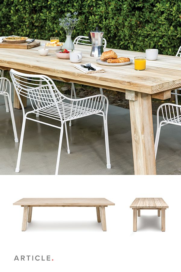 Teaka Dining Table For 6 Outdoor Dining Table Rustic Outdoor Dining Tables Patio Dining Furniture