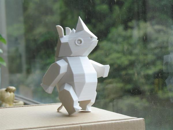 3ders.org - Taiwanese artist 3D prints fun modular toys of endangered Formosan Black Bear and rhino | 3D Printer News & 3D Printing News