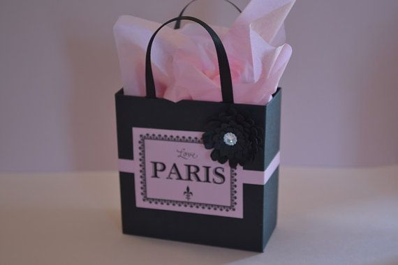 Paris party favor bags for candy buffets by steppnout on Etsy