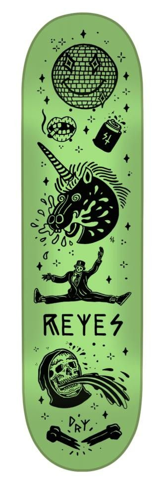 CREATURE PRO SKATEBOARD DECK TANKED REYES GLOW IN THE DARK - 8""