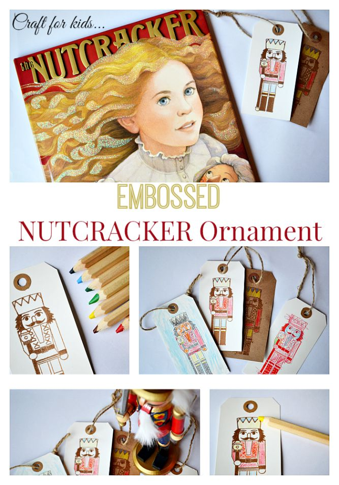 Christmas Craft for Kids: Embossed Nutcracker Ornament and 70+ other Kid-made Ornament Ideas
